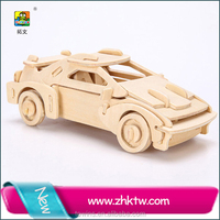 Cotowins education jigsaw puzzle game solar car toy children motor car toy mini wooden toy car