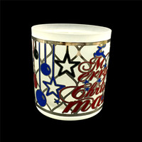 Custom stained glass candle holder pattern dining table decoration