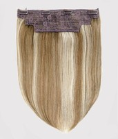 Wholesale Invisible Wire Flip in Hair Extensions Non-Remy Hair With Double Weft width