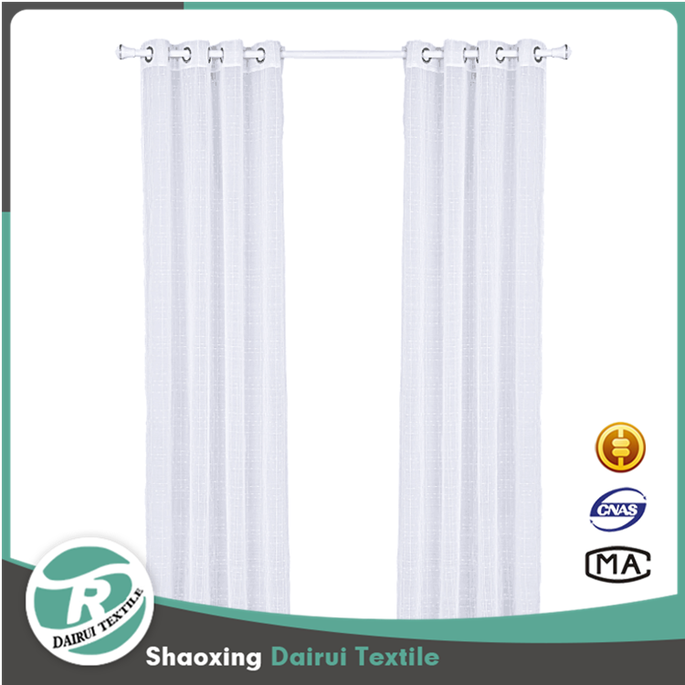 Latest Fashion design jacquard sheer curtain for living room