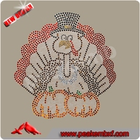 Beautiful Transfers Turkey Rhinestone Iron ons for Thanksgiving day