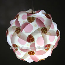 jigsaw lamp pattern, printed pattern pieces, S size, dia 250mm