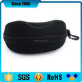 black cheap eva glasses molded case with hook