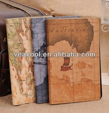 The Map PU Book Flip Leather Case Cover for iPad Air Case iPad 5 Leather Case