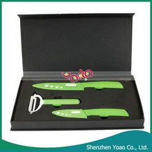 The Global Epidemic Environmental Ceramic Kitchen Knives Set Green