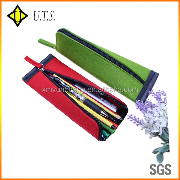 waterproof promotion felt pencil case felt material pencil bag