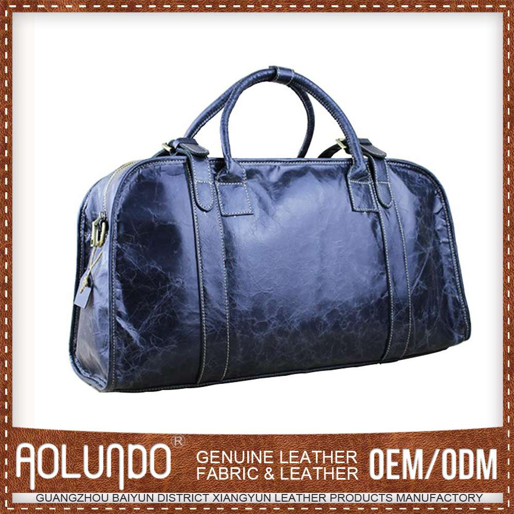 100% <strong>leather</strong> fashion genuine <strong>leather</strong> men travel bags