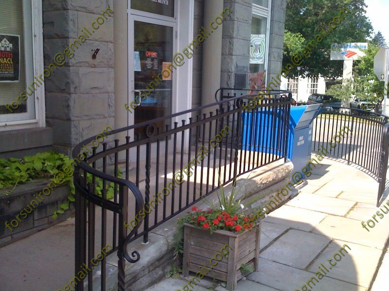 Elegant outdoor wrought iron handrail