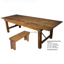 Spruce Pine Wood Outdoor Farmhouse Folding Dining Room Camping Table