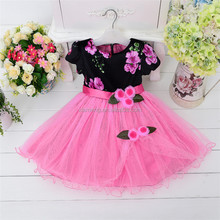Big sale ! ! Soft pink fairy casual new design kids dress