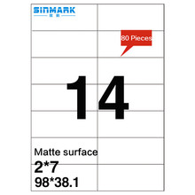 SINMARK Matte surface 98mm*38mm self-adhesive mirror sticker paper