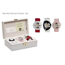 Hot sale quartz stainless steel back watch with semi precious face