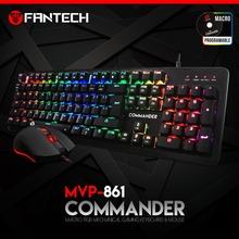 FANTECH New Arrival Mechanical Blue Switch Keyboard With RGB Mouse Combo MVP861 COMMANDER