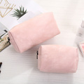 Girls pink large PU leather women makeup cosmetic pouch bag