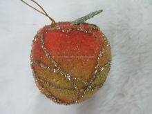 new style decorative artificial fake beaded peach fruit with gold wire