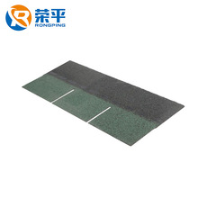 Versatile easy cut fasten fit 3-Tab green white color customize asphalt roofing shingle