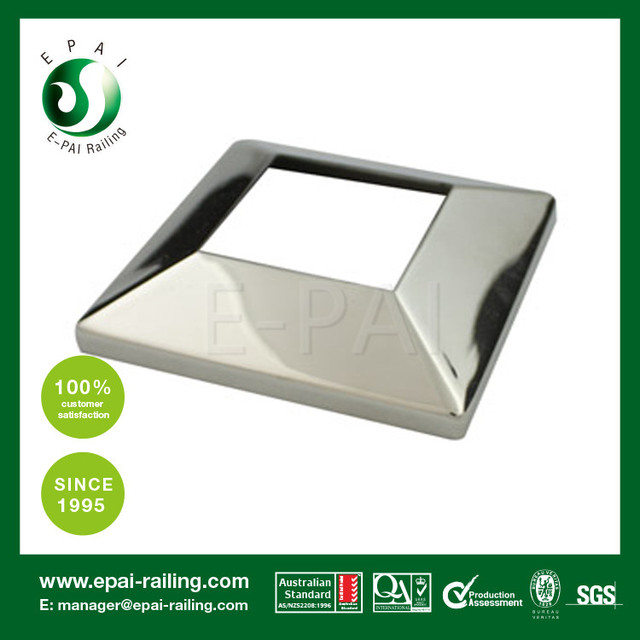 Stainless Steel Round Post Stair Handrail Base Plate Cover