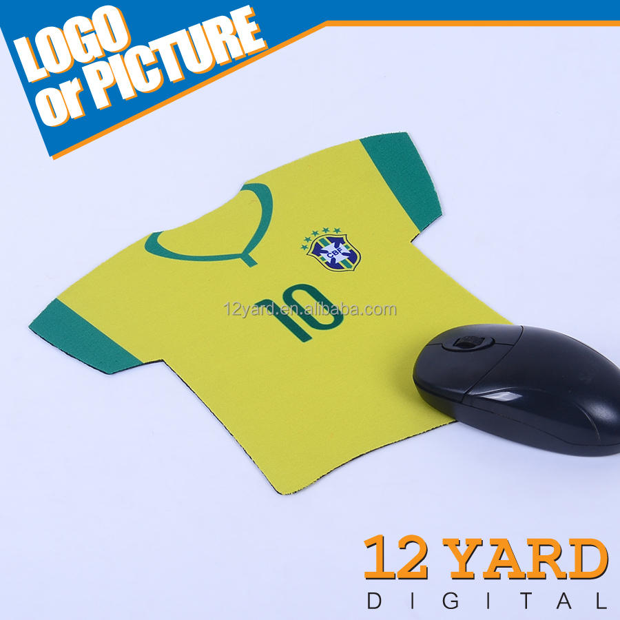 Brasil national creative football club printed jersey mouse pad