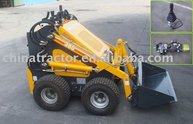 Mini Skid Steer Loader HY380 (CE approved, multi function)