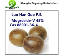 Luo Han Guo Extract 20-55% Mogroside V cas 88901-36-4 Lo Han Guo Extract