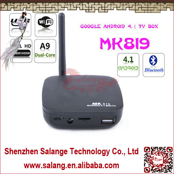 2014 Hot Selling Factory Cheapest Price RK3066 CORTEX-A9 Dual Core Android4.1.1 Mini PC with Bluetooth Support RJ-45 by Salange