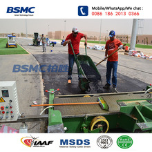 Wet Pour PU Plastic Synthetic School Stadium Running Track Surface Material