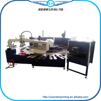 YC-OPS00124 new !printing machine/2 color 1 station screen printing machin in Yantai applied for t-shirts ,bags,PVC,socks,gloves