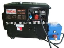 Air cooled 3phase ATS with electric 6KW portable Silent diesel generator 6GF-LDEA3