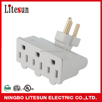 LA 02 UL CUL 3 outlets rotatable Adapter