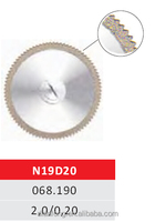N19D20 19mm Flexible Miniature Solid Dental Edge Coated Diamond Disc Diamond Grinding Tools dental disc