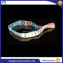 Promotion custom printing fabric woven bracelet for events/festival wristband/woven wristband