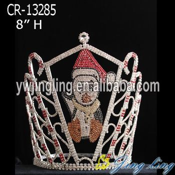 New arrival Christmas custom pageant crown for sale