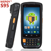 android handheld mobile phone 3g bluetooth wifi 1d 2d barcode scanner with display touch screen terminal qr barcode reader pda