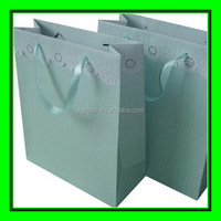 ribbon tie blue color printing art paper gift shopping use paper bag