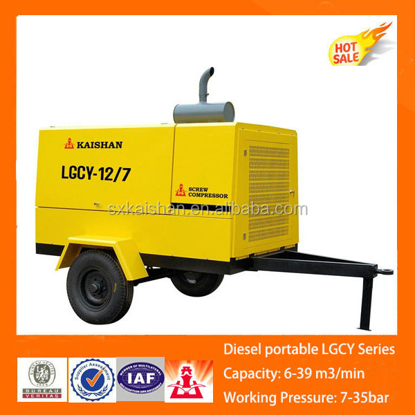 high quality diesel portable airman screw air compressor