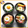 Japan simulated bowl food noodle pendants key ring chain keyring keychain