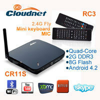 RK3188 Quad core Webcam Android media player HD built in 2GB RAM 8GB ROM With XBMC 1080P Player