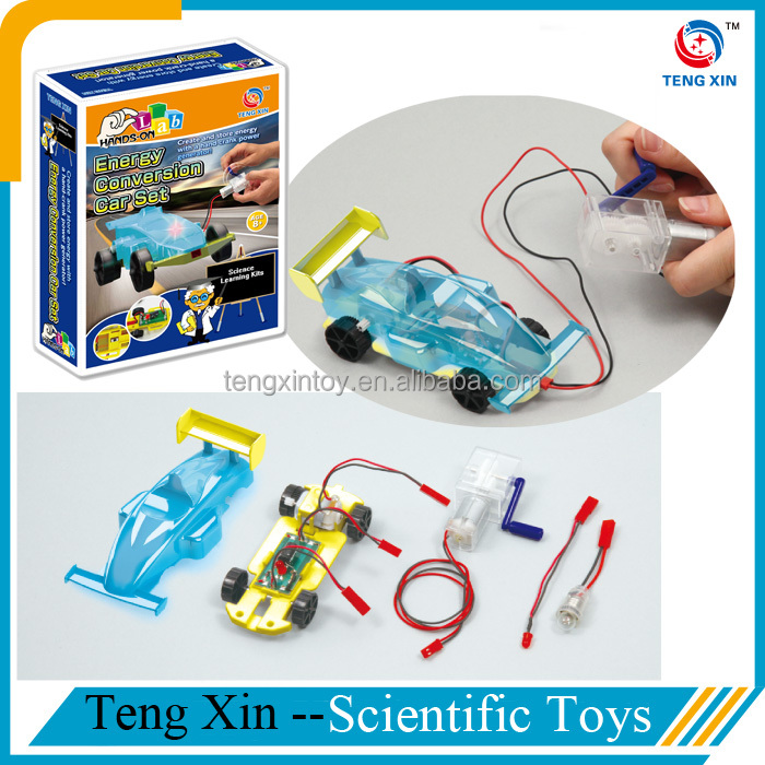 eco-friendly diy hand generator toy car for kids