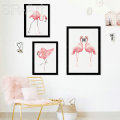 Wall Pictures For Living Room Cuadros Nordic Decoration Wall Art Canvas Painting Posters And Prints Flamingo