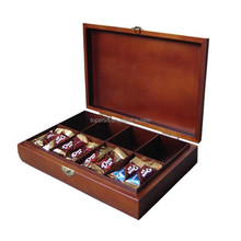 Factory Price Outlets Decorative Christmas Day Solid Wood Tea or Coffee Gift Box