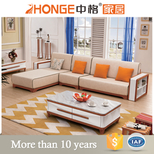4 seater latest living room design l shaped fabric sofa set