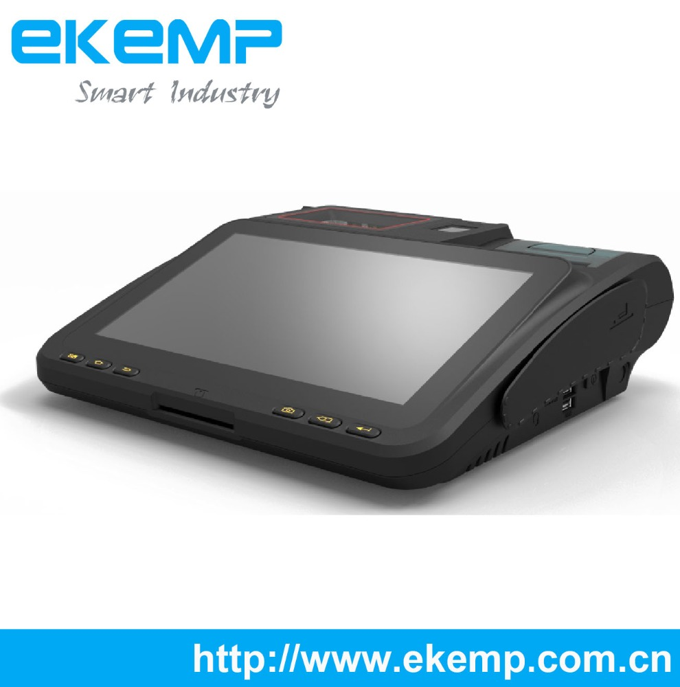 7 Inch Android POS Terminal, Biometric Machine with Fingerprint Scanner