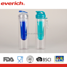2017 700ml fruit infuser plastic drinking water bottle for sports