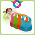 Manufacture popular crumb catcher silicone baby bibs with adjustable closure
