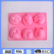 Lovely cute shape molds de silicone de chocolate/silicone molds for soap