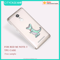 city&case cartoon tpu phone case for Red Mi note 3
