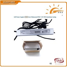 waterproof constant voltage 24v led flood light driver 45w ip67 with ce rohs saa ctick