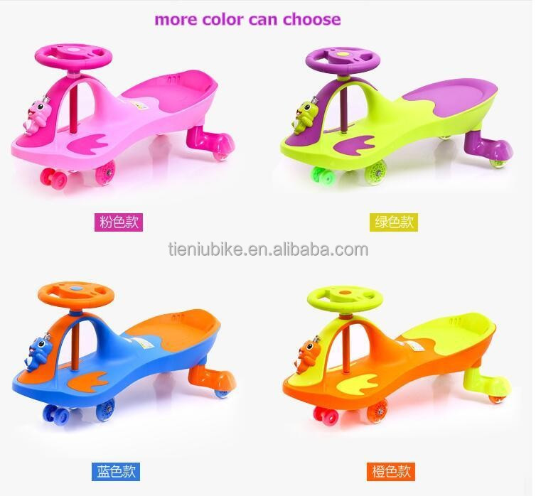 Colorful Plastic swing car baby wiggle car hebei manufacturer