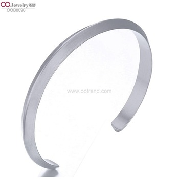 Stainless Steel Minimalist Style Triangle Wire Metallic Open Faceted Cuff Bangle Braceletc