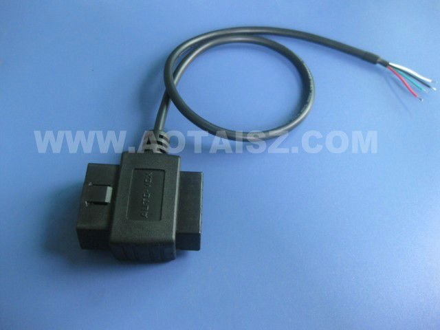 J1962 OBD Male to Female Adapter with Open wire